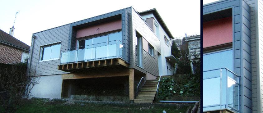 Extension maison bois sur pilotis gallery of maison for Extension maison ossature bois sur pilotis