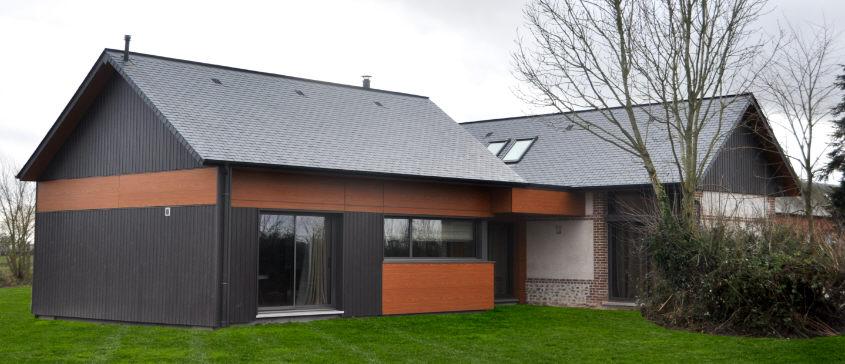 R novation d 39 un b timent agricole et extension for Architecte batiment agricole